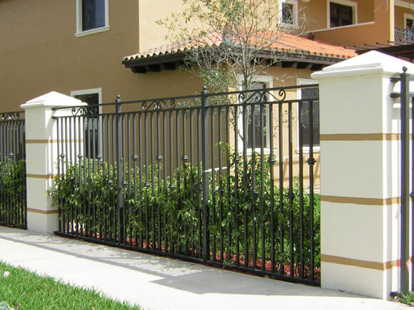 wrought iron ornamental fence miami
