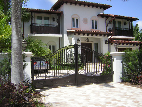 wrought iron ornamental gate miami