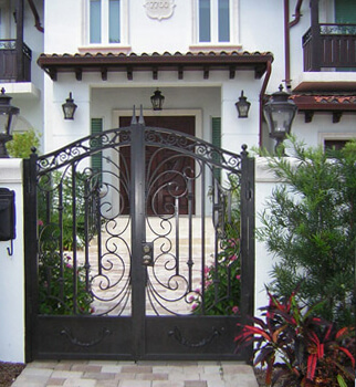 wrought iron ornamental-gate miami